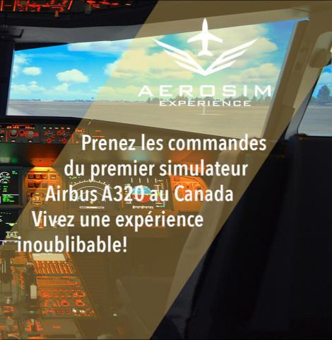 Aérosim Expérience - Ville de Québec