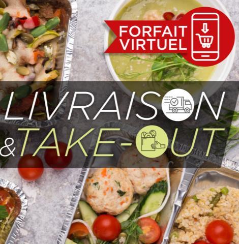 Cartes-cadeaux virtuelles - repas pour emporter ou livrer (FSR)