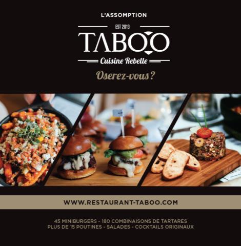 TABOO Cuisine Rebelle, l'Assomption