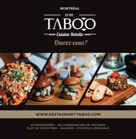 Taboo, Cuisine Rebelle (Montréal)