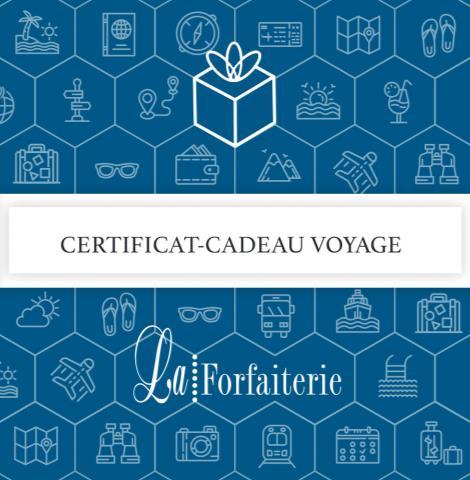 Certificats-Cadeaux Voyages La Forfaiterie